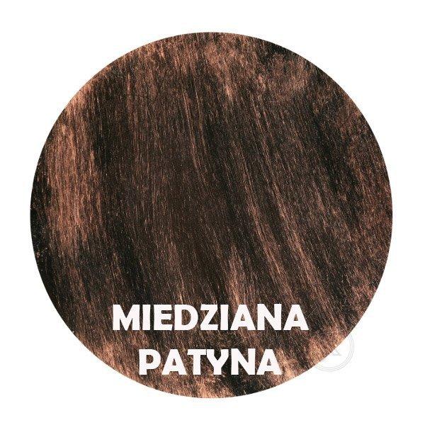 Miedziana patyna - kolorystyka metalu - Kwietnik duży kuty - Sklep Decoart24.pl