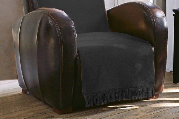 Narzuta na fotel - 50x200 cm - Grafit