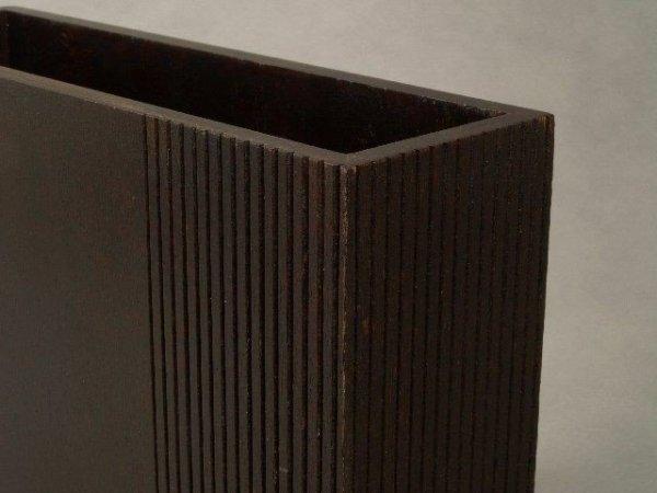 Wazon drewniany - 25,5x7,5x25,5cm