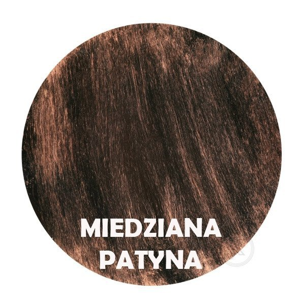 Miedziana patyna - kolorystyka metalu - Kwietnik metalowy - Stojak - Sklep