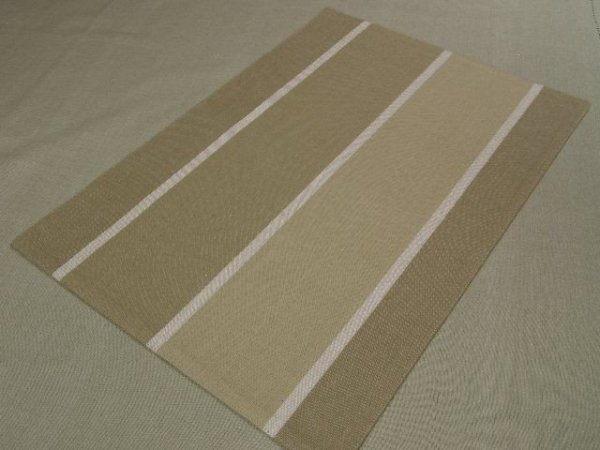Podkładki na stół - Oliwka w pasy - 33x48cm - 4szt/op