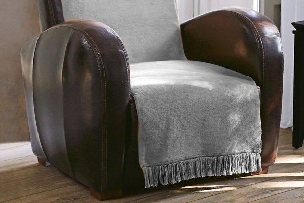 Narzuta na fotel - 50x200 cm - Srebrna - Popiel