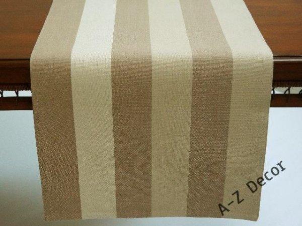 Bieżnik na stół - Beż w pasy - 42x140cm