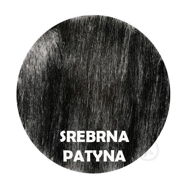 Srebrna patyna - kolorystyka metalu - Kwietnik narożny - Sklep Decoart24.pl