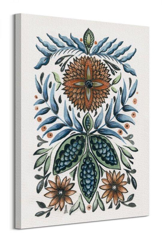 96d7e0eb Folk Floral III - obraz na płótnie