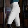 HORZE DANIELA Bryczesy jeździeckie damskie z wysokim stanem z lejem silikonowym białe r.36 24H