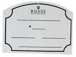 BUSSE PCW Tabliczka na boks