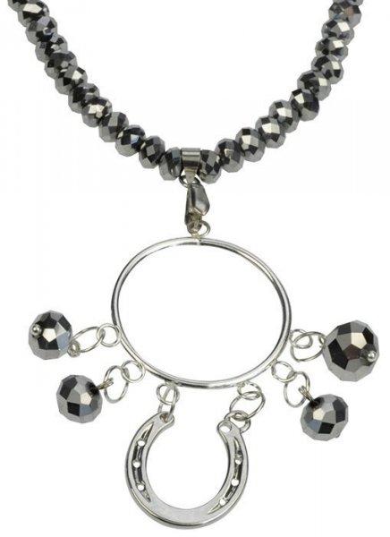 Naszyjnik HR Podkowa ze szklanymi kryształkami