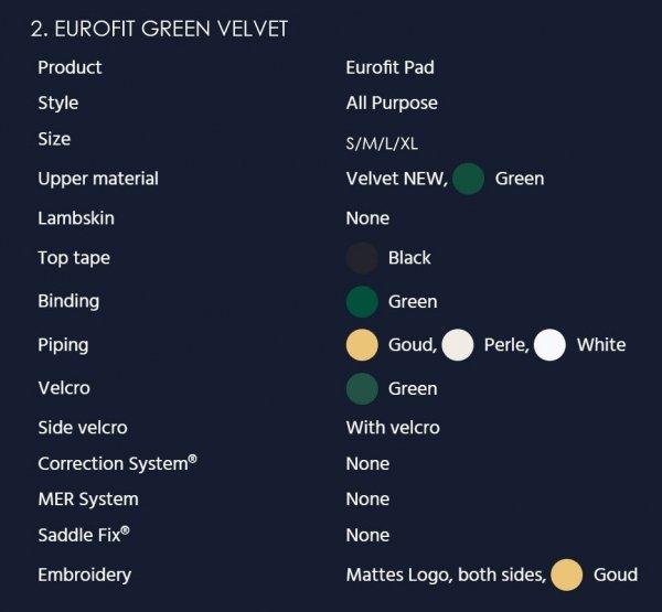 MATTES EUROFIT VELVET Czaprak profilowany wszechstronny