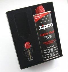 Pudełko Upominkowe Benzyna kamienie Zippo Slim