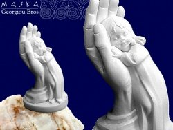 Figurka Alabastrowa Dziewczynka w Dłoni