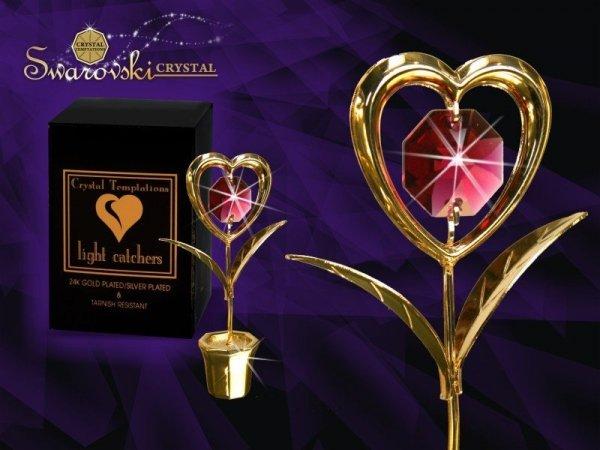 Figurka Swarovski Kwiatek Serce GRAWER Walentynki