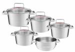 Zestaw garnków Ambition Selection + pokrywy + wkład do gotowania na parze |  31030/31031/31032/31033/31034 | 9PCS