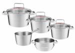 Zestaw garnków Ambition Selection + pokrywy + wkład do gotowania na parze |  31029/31030/31031/31032/31034 | 8PCS