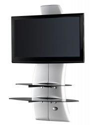 Półka pod TV z maskownicą Meliconi GHOST DESIGN 2000 z rotacją | Panel TV | BIAŁA