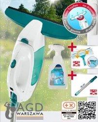 Leifheit 51108 Window Vacuum: zestaw myjka Leifheit: myjka + ściągaczka elektryczna + drążek 43 cm + płyn do mycia szyb 41409 #wysyłka G R A T I S