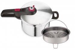 Szybkowar Tefal P25344 43 Secure Neo Color 8L | FIOLETOWY z koszykiem do gotowania na parze