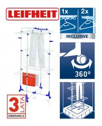 Suszarka do ubrań Leifheit Tower 450 (Symbol: 81456) + 50 szt. spinaczy