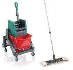 Zestaw Leifheit Professional | Wózek do sprzątania Leifheit Uno + Mop Leifheit Professional z nakładką | 59102/59103