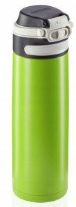 Bidon termiczny Leifheit FLIP 3277 stalowy 600ml ZIELONY | Kubek termiczny