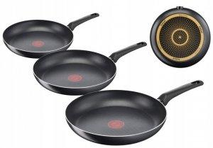 Patelnia 24/28/30 cm Tefal Simple Cook ZESTAW B55604/B55606/B55607