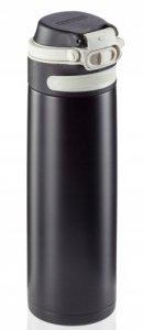 Bidon termiczny Leifheit FLIP 3271 stalowy 600ml CZARNY | Kubek termiczny