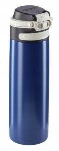 Bidon termiczny Leifheit FLIP 3275 stalowy 600ml GRANATOWY | Kubek termiczny