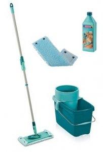 Mop obrotowy Leifheit Clean Twist M 33 cm + Nakładka Extra Soft + Płyn do paneli i parkietu | 52014/55321/41415