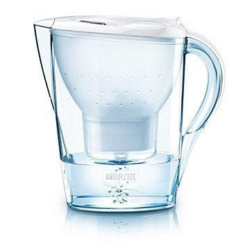 Dzbanek / Filtr do wody Brita Marella - 2,4 L / 3 oryginalne filtry Brita Maxtra / Kolor: biały  (Symbol: 100002) / Kolor: czarny (Symbol: 101975)