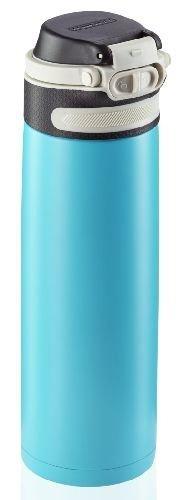 Bidon termiczny Leifheit FLIP 3276 stalowy 600ml BŁĘKITNY | Kubek termiczny