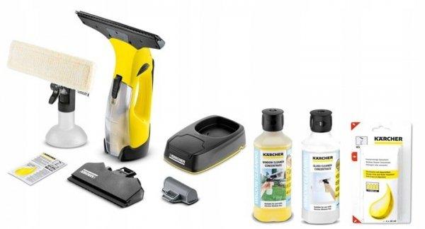 Kärcher ZESTAW myjka do okien WV5 Premium + 2x500 ml + 4x20ml koncentratu środka do czyszczenia szkła