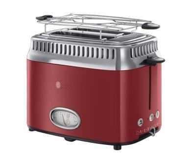 Toster Russell Hobbs Retro Ribbon Red 21680-56 #wysyłka G R AT I S#