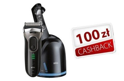 Golarka Braun Series 3 3090cc z systemem Clean&Charge wraz z płyn czyszczący CCR2 (w zestawie 2 wkłady)