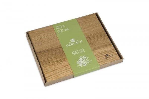 Deska do krojenia Gerlach Natur 30 x 24 cm z drewna dębowego 5901035489349