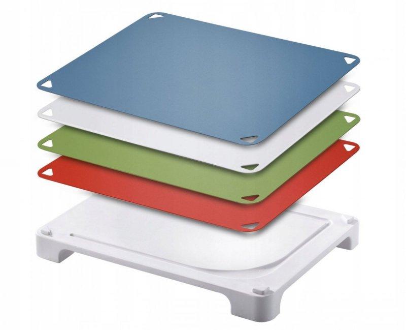 Deska do krojenia Leifheit 03086 Vario Board - jedna deska, cztery podkłady
