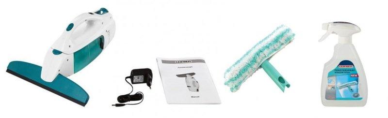 Zestaw: Odkurzacz, myjka do szyb, okien Leifheit 51146 Window + płyn do szyb 41409