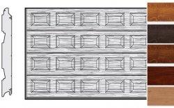 Brama LPU 42, 4250 x 2125, Kasetony S, Decograin, okleina drewnopodobna