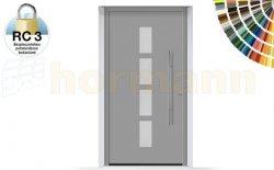 Drzwi aluminiowe ThermoSafe, Wzór 501, kolor do wyboru, przeciwwłamaniowe RC 3