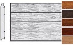Brama LPU 42, 3000 x 3000, Przetłoczenia L, Decograin, okleina drewnopodobna
