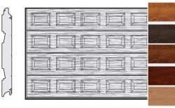 Brama LPU 42, 5500 x 2250, Kasetony S, Decograin, okleina drewnopodobna