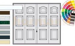 Brama uchylna N 80, 2500 x 2125, Wzór 977, kolor do wyboru