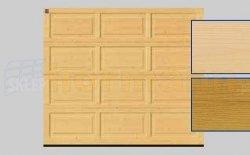 Brama LTH, 2500 x 2125, Kasetony V, Świerk