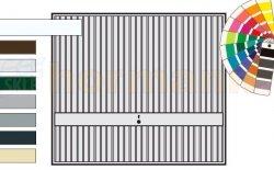 Brama uchylna N 80, 2375 x 2125, Wzór 941, kolor do wyboru