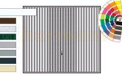 Brama uchylna N 80, 2500 x 2125, Wzór 913 Otwory Micro, kolor do wyboru