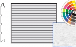 Brama LTE, 3000 x 2250, Przetłoczenia S, Woodgrain, kolor do wyboru