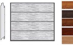 Brama LPU 42, 3000 x 2500, Przetłoczenia L, Decograin, okleina drewnopodobna