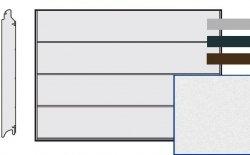 Brama LPU 42, 4000 x 2125 Przetłoczenia L, Sandgrain, kolor do wyboru