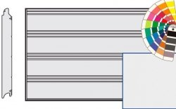 Brama LPU 42, 4250 x 2125 Przetłoczenia T, Silkgrain, kolor do wyboru