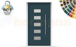 Drzwi aluminiowe ThermoSafe, Wzór 502, kolor do wyboru, przeciwwłamaniowe RC 3