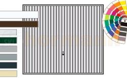 Brama uchylna N 80, 2375 x 1920, Wzór 902, kolor do wyboru